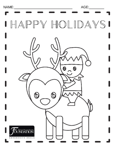 Holiday Coloring Sheets Benefis Foundation